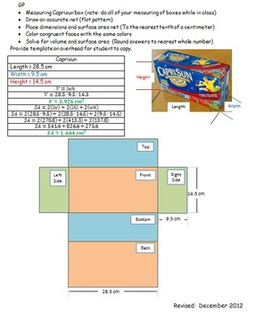 Box Review Template CC 7.G.6