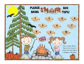 Box Top Collection Sheet - Camping Theme 2