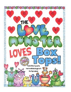 Box Top Collection Sheet - Fun Monster Theme 2