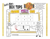 Box Top Collection Sheet - Wheel of Fortune Theme