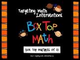 Box Top Multiples of Ten