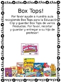 Box Top letter to parents *SPANISH*