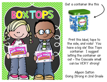 Box Tops Box Label Freebie!