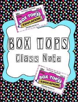 Box Tops Collection Note