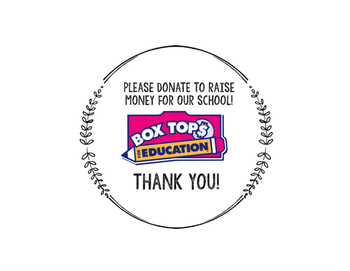 Box Tops Container Label