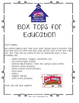 Box Tops Letter