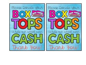 Box Tops Sign FREEBIE!