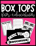 Box Tops for Education Tracker and Letter