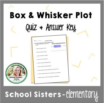 Box & Whisker Plot Quiz & Answer Key