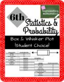 Box & Whisker Plot Student Choice Activity