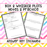 Box & Whisker Plots Notes & Guided Practice