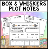 Box & Whiskers plot notes