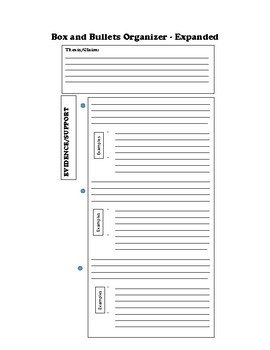 Box and Bullets Essay Graphic Organizer