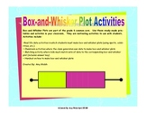 Box and Whisker Plot Activities - Grade 6 Math Statistics Common Core