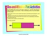 Box and Whisker Plot Activities - Grade 6 Math Statistics