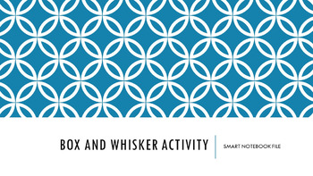 Box and Whisker Plot Activity