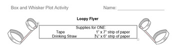 Box and Whisker Plot Activity with Loopy Flyers