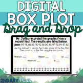 Box and Whisker Plot Digital Drag and Drop Activity for Distance Learning