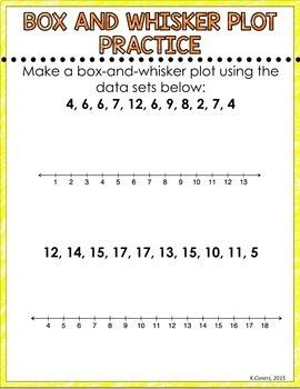Box and Whisker Plot Digital Interactive Math Notebook