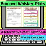 Box and Whisker Plot Digital Interactive Math Notebook