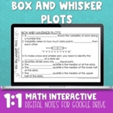 Box and Whisker Plot Digital Math Notes