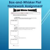 Box and Whisker Plot Homework