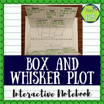 Box and Whisker Plot Interactive Notebook Pages