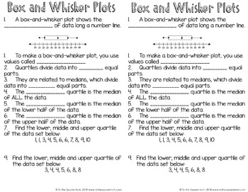 Box and Whisker Plot Interactive Notebook