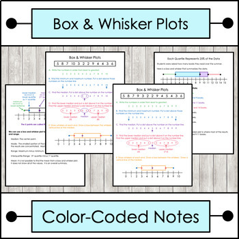 Box And Whisker Plot Worksheets Teaching Resources | Teachers Pay ...