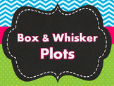 Box and Whisker Plot PPT  and Guided Notes 6.SP.2 , 6.SP.4