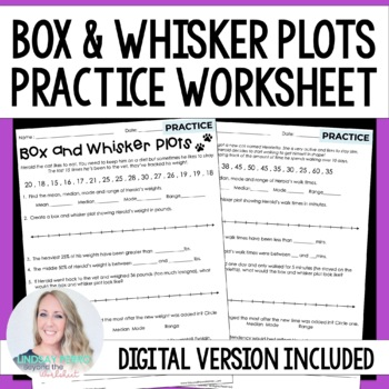 Box and Whisker Plots Practice Worksheet