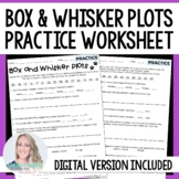 Box and Whisker Plots Practice Worksheet - For Distance Learning