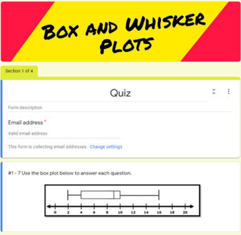 Box and Whisker Plot Quiz