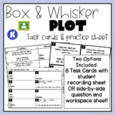 Box and Whisker Plot Task Cards and Practice Sheet