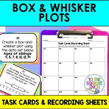 Box and Whisker Plot Task Cards
