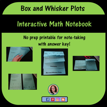 Box and Whisker Plot foldable for Interactive Math Notebook