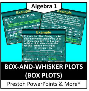 (Alg 1) Box and Whisker Plots in a PowerPoint Presentation