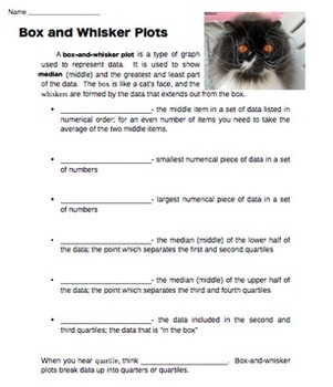 Box and Whisker Plots--Note Sheet and Practice