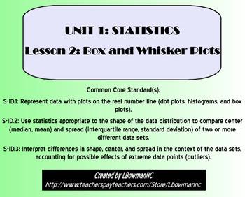 Box and Whisker Plots (Math 1)