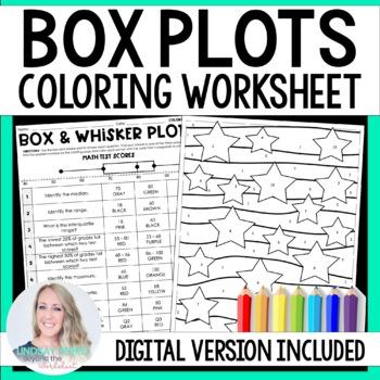 Box and Whisker Plots Coloring Worksheet