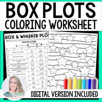 box and whisker plots coloring worksheet by lindsay perro tpt. Black Bedroom Furniture Sets. Home Design Ideas