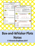 Box-and-Whisker Plots Notes