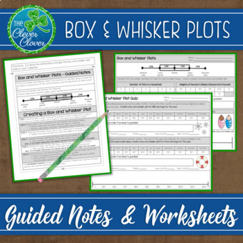 Box And Whisker Plots Notes Worksheets And An Assessment By The