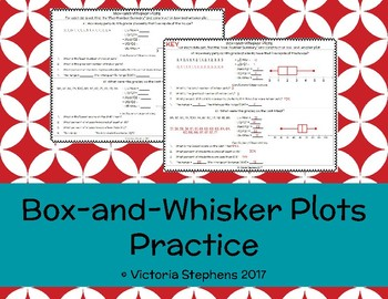 Box-and-Whisker Plots Practice
