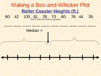 Box and Whisker Plots and Handout, Math PowerPoint