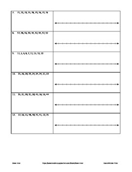 Box and Whisker worksheets and puzzle