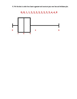 Box and Whiskers Plot Quiz
