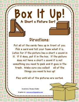Box it Up! - A Short o Picture Sort