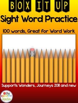 No Prep, Sight Word Practice Activity, Fun, Engaging, Box It Up