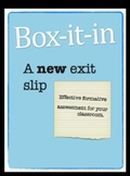 Box-it-in: a new exit slip!